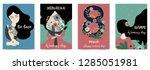 pink green blue international... | Shutterstock .eps vector #1285051981