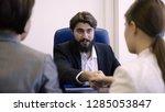 partners made deal. man in suit ... | Shutterstock . vector #1285053847