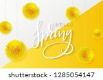 vector illustration of hello... | Shutterstock .eps vector #1285054147
