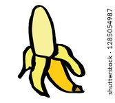 banana icon vector symbol... | Shutterstock .eps vector #1285054987