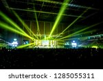 music brand showing on stage or ... | Shutterstock . vector #1285055311