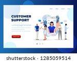 customer support  female... | Shutterstock .eps vector #1285059514