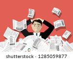 young stressed man have no... | Shutterstock .eps vector #1285059877