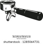 vector hand drawn coffee making ...   Shutterstock .eps vector #1285064731