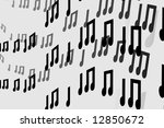 3d notes abstract music... | Shutterstock . vector #12850672
