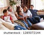 three generation hispanic... | Shutterstock . vector #1285072144