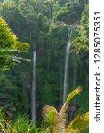 sekumpul waterfall in the green ... | Shutterstock . vector #1285075351