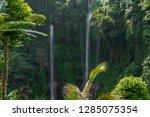 sekumpul waterfall in the green ... | Shutterstock . vector #1285075354