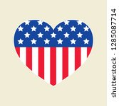 vector flag in heart icon | Shutterstock .eps vector #1285087714