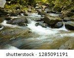 long exposure shot of a stream | Shutterstock . vector #1285091191