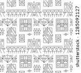 seamless vector pattern. black... | Shutterstock .eps vector #1285092127