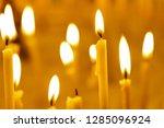 burning church candles | Shutterstock . vector #1285096924