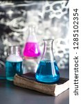 glass in a chemical laboratory...   Shutterstock . vector #1285102354