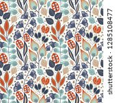 floral seamless pattern on... | Shutterstock .eps vector #1285108477