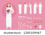 bride character constructor for ...   Shutterstock .eps vector #1285109467