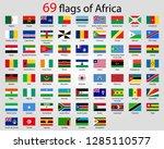 69 flags of africa | Shutterstock .eps vector #1285110577