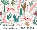 jungle seamless pattern. animal ...   Shutterstock .eps vector #1285113334