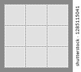 blank postage stamps set... | Shutterstock .eps vector #1285115041