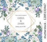 floral banner template design... | Shutterstock .eps vector #1285133467
