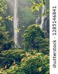 sekumpul waterfall in the green ... | Shutterstock . vector #1285146841
