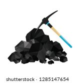 pile of charcoal  graphite coal ... | Shutterstock .eps vector #1285147654