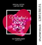 valentines day sale  discont...   Shutterstock .eps vector #1285158151