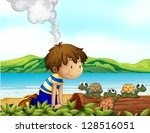 illustration of a boy watching...