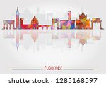 florence city background ... | Shutterstock .eps vector #1285168597