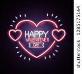 happy valentines day   Shutterstock .eps vector #1285175164