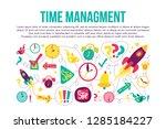 time management stitched frame... | Shutterstock .eps vector #1285184227