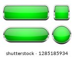 green glass 3d buttons. with... | Shutterstock .eps vector #1285185934