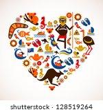 australia love | Shutterstock .eps vector #128519264