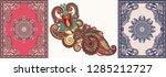 ukrainian oriental floral... | Shutterstock .eps vector #1285212727