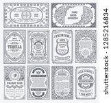 vintage vector set retro cards. ... | Shutterstock .eps vector #1285216834