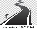 winding road with white lines... | Shutterstock .eps vector #1285219444