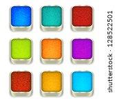 jeans buttons  bitmap copy. | Shutterstock . vector #128522501