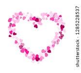 pink crimson hearts confetti... | Shutterstock .eps vector #1285228537