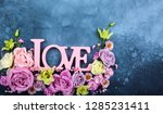 valentines day concept with... | Shutterstock . vector #1285231411