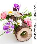 spring flowers and bird | Shutterstock . vector #128523224