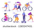 summer outdoor sports... | Shutterstock .eps vector #1285247431