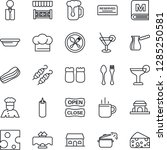 thin line icon set   hot cup... | Shutterstock .eps vector #1285250581