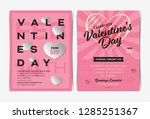 set of valentine's day... | Shutterstock .eps vector #1285251367