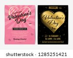 set of valentine's day... | Shutterstock .eps vector #1285251421