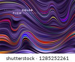 modern colorful flow poster.... | Shutterstock .eps vector #1285252261