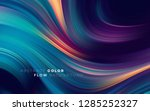 modern colorful flow poster.... | Shutterstock .eps vector #1285252327