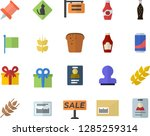 color flat icon set ketchup... | Shutterstock .eps vector #1285259314