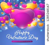 happy valentines day concept... | Shutterstock .eps vector #1285268167