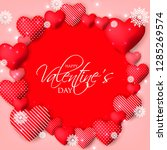 happy valentines day card... | Shutterstock .eps vector #1285269574