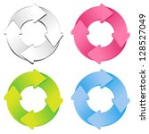 set of four color option... | Shutterstock .eps vector #128527049
