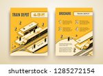 vector brochure template for... | Shutterstock .eps vector #1285272154